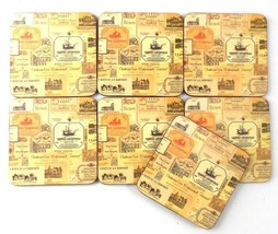 """Home Essentials set of 7 Chateau Cork Backed 4"""" Square Coasters Bar Party  - $4.99"""