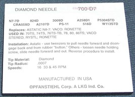 700-D7 for Stylus Needle for SHOW N TELL Childrens Phonograph Record Player image 2