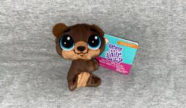 """Littlest Pet Shop Clip a Pet Hoffman Beary 4"""" Brown Plush NWT - $9.50"""
