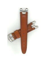 Tag Heuer 18mm Midsize Brown Leather Str S/EL Sports Edition Watch band ... - $375.00