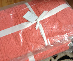 Pottery Barn Hanna Quilt Queen Wholecloth Desert Rose No Shams Coral - $174.00