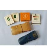 Vintage Nail Manicure Set Travel Griffin Monarch Leather Case + Matches ... - $77.12