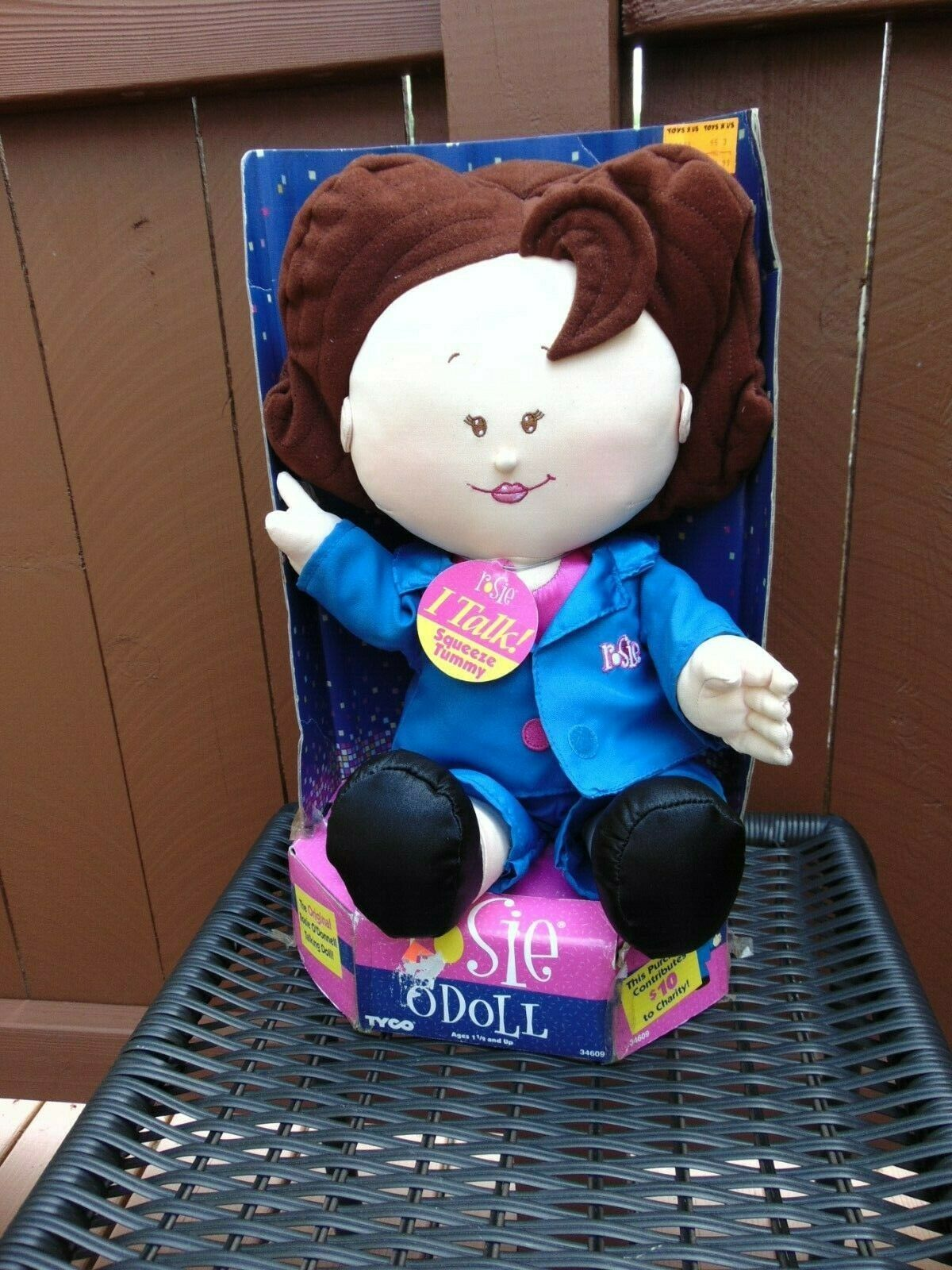 "Rosie O'Donnell Talking Celebrity Plush Doll 18"" Tyco MIB NOS"