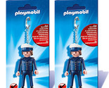 Lot of (2) New! PlayMobil 6615 Policeman Keyring Ages 4-10