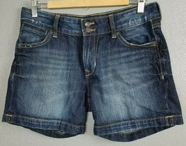 158f66caf1 Old Navy Size 10 Womens Jean Shorts Stretch Two Button Dark Blue Wash  Cotton - $24.97