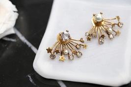 SALE* NEW AUTH Christian Dior 2019 CD DIORAINBOW CRYSTAL LOGO STAR Earrings image 2
