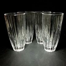 "4 (Four) MIKASA TIARA Cut Lead Crystal Highball Glasses 5 3/4"" DISCONTINUED - $42.74"
