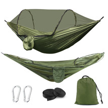 Camping Hammock with Mosquito Net, Pop-up Parachute Lightweight Hanging ... - $29.99