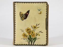 FREE SHIP: Antique Vintage Victorian Celluloid Photo Album -Butterflies ... - $60.78