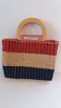 Vintage Tommy Hilfiger Wicker Straw handbag - $11.88