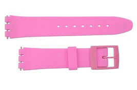 Swatch Replacement Pink 17mm Plastic Watch Band Strap Fits Original Gents - $8.95