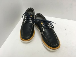 TSUBO Porter Derby Lace Up Shoe Leather Upper, Manmade Sole Navy Men's S... - $42.49