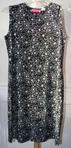 LIZ LANGE MATERNITY Black Sleeveless White Floral Dress Size Small EUC - $14.84