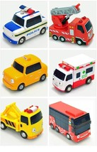 Tayo Special Pull Back Little Small Mini Miniature Toy Bus Car Vehicle 6 Pieces image 2