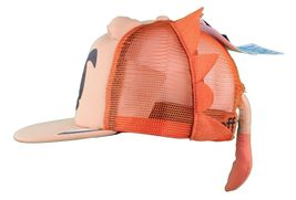 Neff Men's Orange Lion Leo Snapback Baseball Hat Cap w Tail NWT image 5
