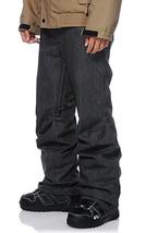 Aperture 5 Pocket Black Denim 10k Men's Snowboard Pants Slim Fit XXS - $84.23
