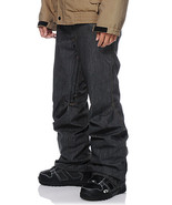Aperture 5 Pocket Black Denim 10k Men's Snowboard Pants Slim Fit XXS - $84.23