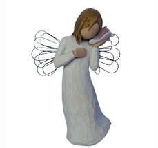 Willow tree figurine angel Susan Lordi demdaco Thinking of you seashell ... - $24.14