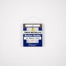 Klasse Twin Metallic 3.0mm/80, 1 Needle, Bundle of 5 Sold by the Bundle of 5 - $13.85