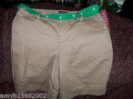 Merona Bonjour Brown Bermuda Shorts Size 6 Women's NEW - $21.06