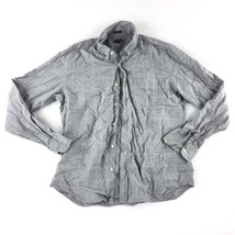 J Crew Casual Slim Long Sleeve Plaid Button Down Shirt Men's Gray Size X... - $27.71