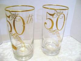 Silver City Glass Co. 50th  Anniversary 22K Gold Rimmed Glasses - $12.00
