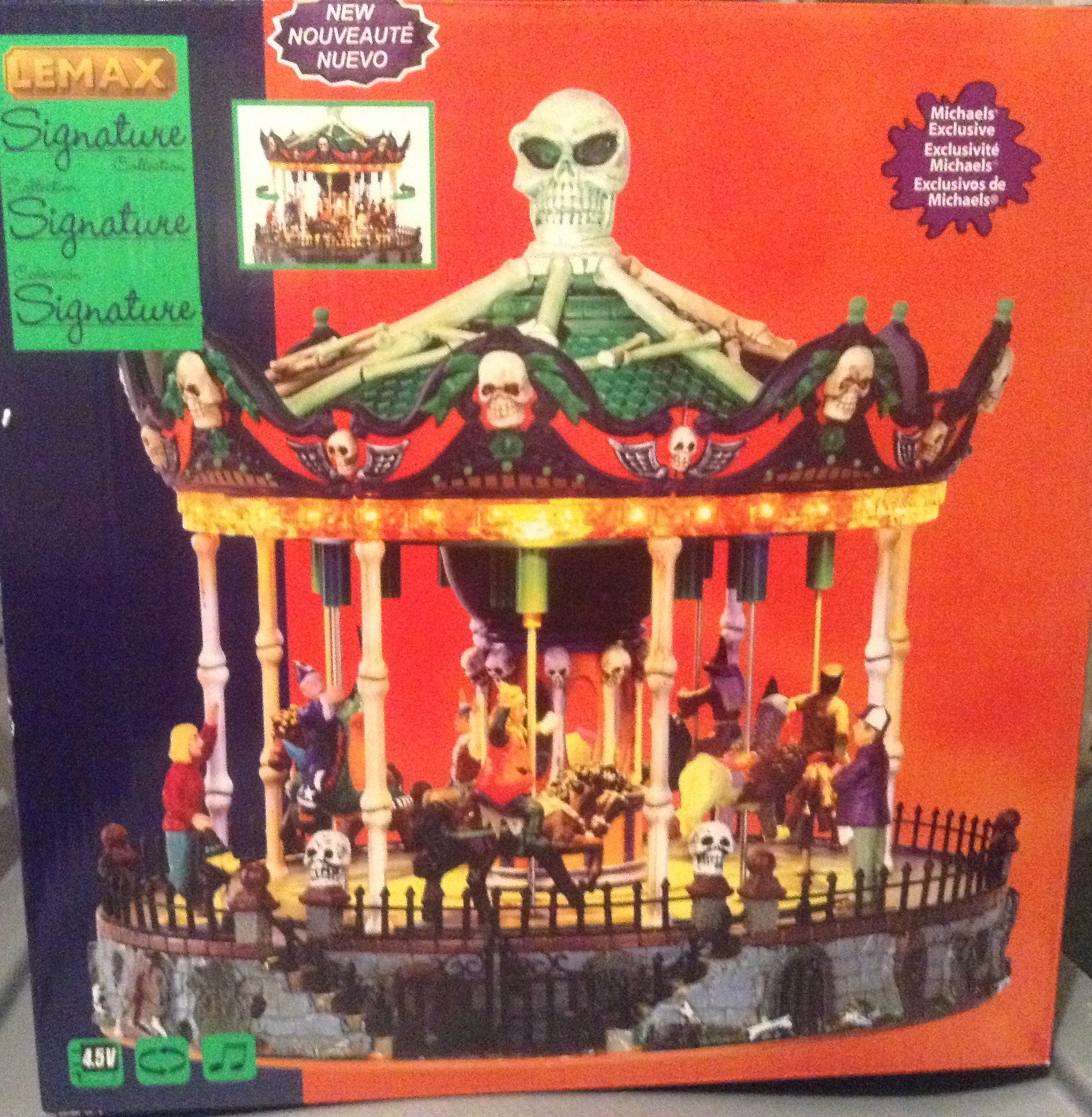 Lemax Halloween Spooky Town animated Scary-Go-Round Carousel Figure