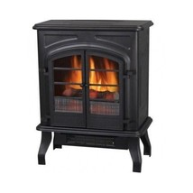 Old Fashioned Vintage Looking Blck Electric Wood Stove Fireplace Portabl... - $107.90