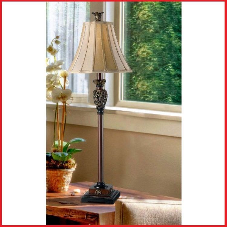 Buffet table lamp golden end table lamps vintage lighting living room
