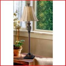 Buffet Table Lamp Golden End Table Lamps Vintage Lighting Living Room Fu... - €120,69 EUR