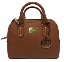 Michael Kors Small Satchel Luggage Brown Saffiano Leather - $5.063,76 MXN