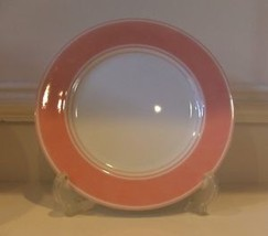 "2 Fitz & Floyd Rondelet Salad Bread Plate Peach White Bread & Butter 6 1/2"" - $9.49"