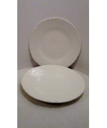 Salad Plates or Dessert Plates All White Vintag... - $4.99
