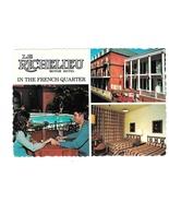 LA New Orleans Le Richelieu Motor Hotel Motel Vintage Postcard 4X6 - $4.99