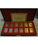 1987 TOPPS GALLERY OF CHAMPIONS BRONZE 12 CARD SET WITH CASE & COA  - $177.99