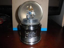 harley davidson rotating snow globe 2004 hallma... - $19.95