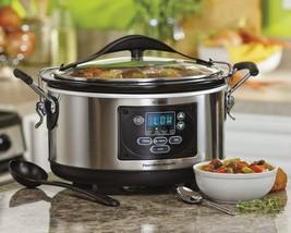 Hamilton Beach Set 'n Forget Programmable Slow Cooker Crock Pot, 6-Quart - $58.96