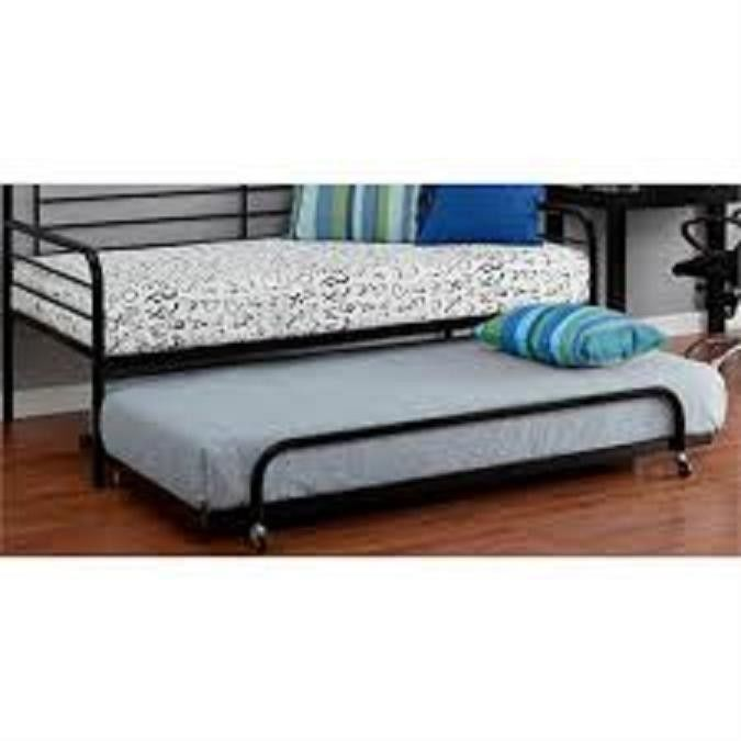 Black Metal Twin Bed With Trundle