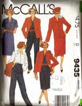 Vintage 1985 McCall's Pattern 9435 Misses Suit - Pants & Skirt, Sz 16 - $9.99