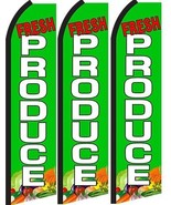 Fresh Produce Standard Size  Swooper Flag banner  sign pk of 3 - $45.00