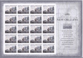 New Orleans The War 1812- 20 (USPS) SHEET FOREVER STAMPS - $15.95