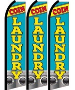 Coin Laundry  Standard Size  Swooper Flag banner  sign pk of 3 - $45.00