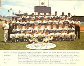 1966 dodger team baseball postcard sandy koufax nationl league champions - $19.99