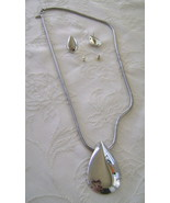 Necklace & Earrings Set, Park Lane, Silver Teardrop  - $20.00