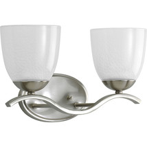 Progress Lighting Lakeshore 2 Light Bath Vanity in Brushed Nickel P2711-09 - $811,86 MXN