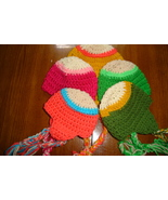 Hand crocheted  beanie/cap/earflap hat photography prop for baby/infant - $15.00