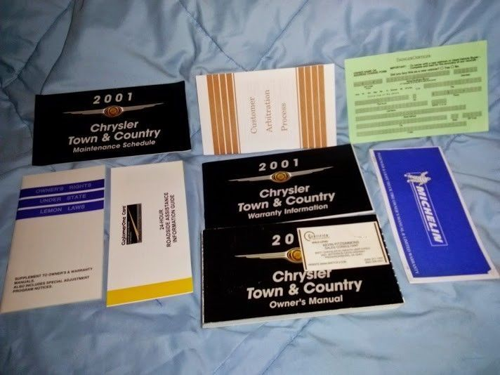 2001 01 CHRYSLER TOWN AND & COUNTRY OWNER'S MANUAL Complete BOOK SET