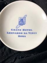 Grand Hotel Leonardo Da Vinci Roma White Trinket Dish  Richard Gianoti 5... - $16.83