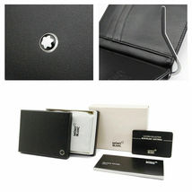 Genuine Montblanc Meisterstück Mens Leather 6CC Wallet with Money Clip 5525 image 6