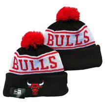 NEW ERA NBA Chicago Bulls On field Sideline Beanie Winter Pom Knit Cap Hat - $14.84
